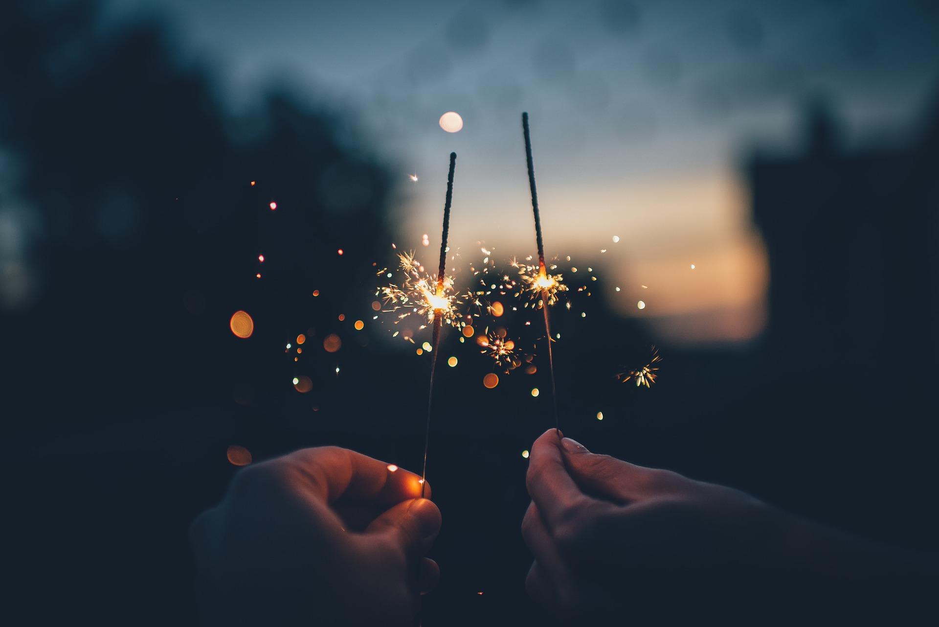 Sparklers night - creative content