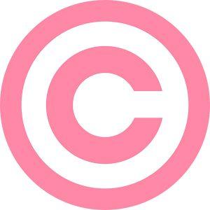 Copyright law - pink logo